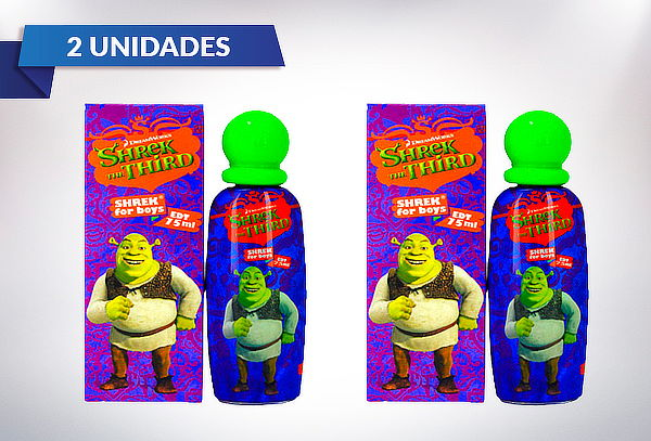 Pack 2 Perfumes Shrek de Niño 75ml