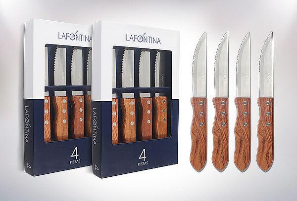 Pack 8 cuchillos para carne Lafontina