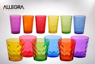 2 Set de 6 Vasos Color Mixed Allegra