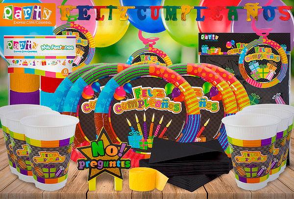 Pack Fiesta Edades para 12 o 24 Invitados
