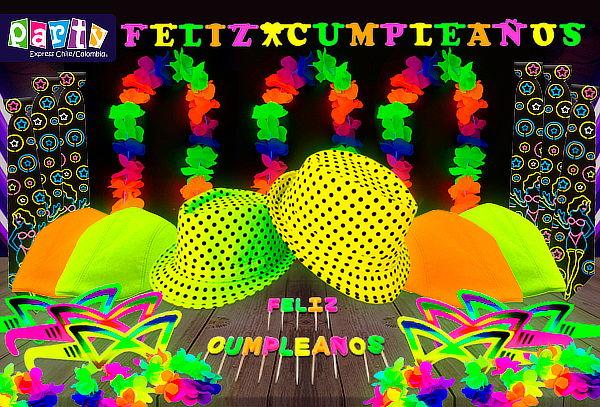 Pack Fiesta Fluor para 12 o 24 Invitados