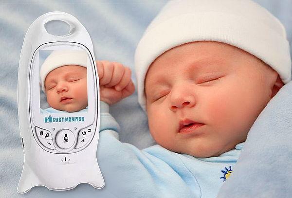 Cámara Monitor Bebés Micrófono con Visión Nocturna
