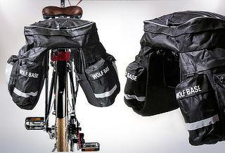 Alforja bicicleta ciclismo triple, impermeable, 48 litros