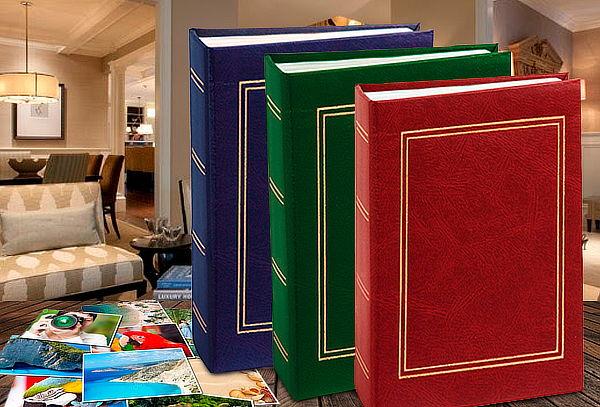 Pack de 4 Álbumes Básico para 100 Fotos color a elección