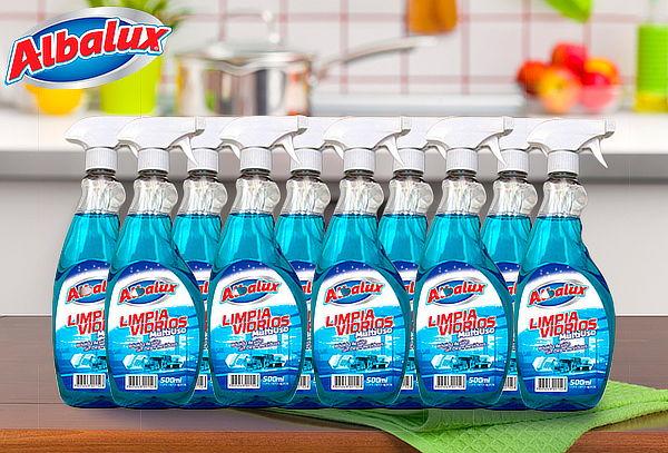 Pack 10 Limpiavidrios de 500 ml Albalux