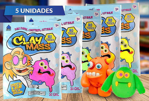 Pack 5 Masas Clay