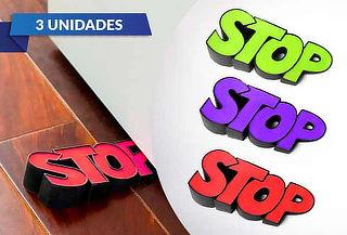 "Pack 3 Topes de Puerta ""STOP"""