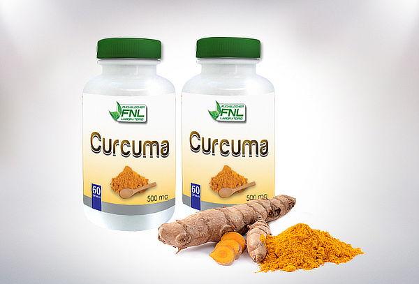 Pack de 2 Frascos de Curcuma 60 Capsulas Laboratorio FNL