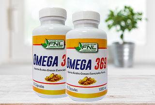 Pack 2 Frascos de 60 Cápsulas de Omega 3, 6 y 9 FNL