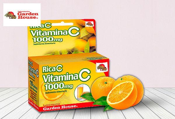 30 Sobres de Rica C Vitamina 1000 mg.