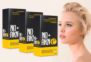 Pack de 3 Bases Maquillaje Líquido de 30ml No+Akn