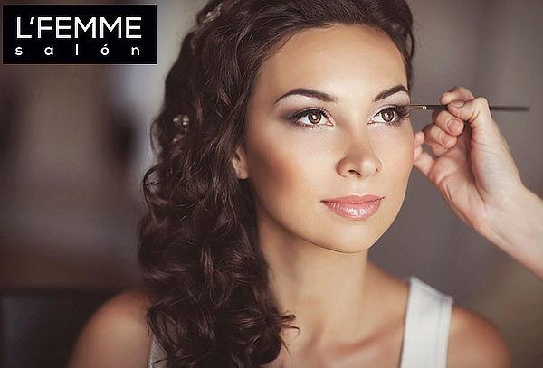 Lfemme Salon Maquillaje Peinado Para Fiestas Nunoa Rostro - Maquillaje-para-eventos