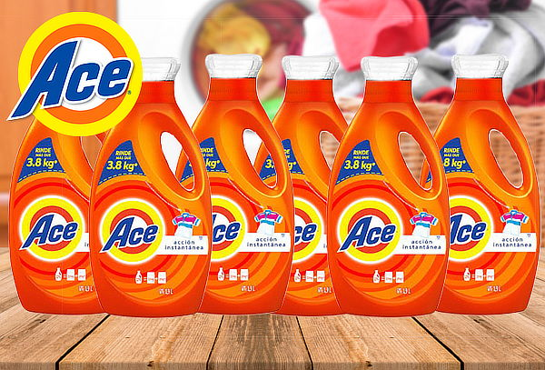 Pack 6  Detergentes Ace Concentrado de 1,9 Litros