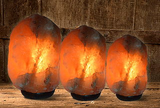 Lámpara de Sal Modelo Piedra, 3 Tamaños a Elección