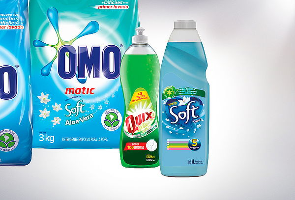 Pack OMO Mix 2 x 3Kilos + Soft 1 Litro + Quix 500ML