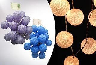 20 Bolas Guirnaldas de Luz, color a elección.