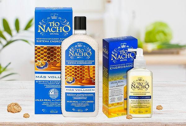 Pack Tío Nacho Engrosador Shampoo+Acondicionador+Tratamiento