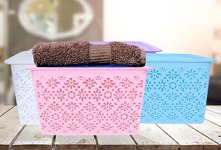 Pack Cajas Plásticas Organizadoras con Tapa