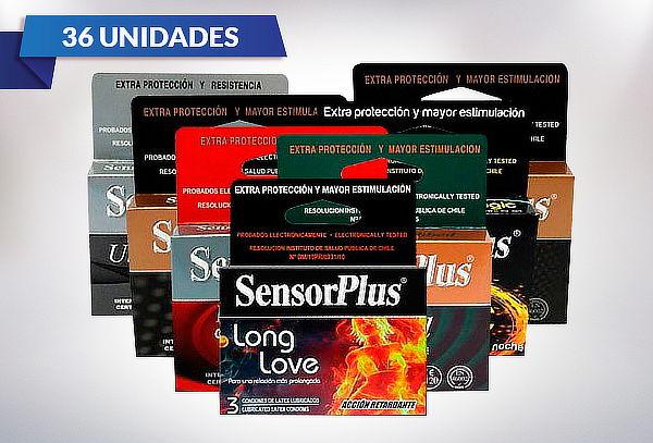 Pack de 36 Preservativos Sensor Plus en variedades