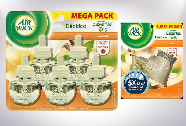 Aromatizador Eléctrico Air Wick + 5 Recargas