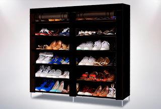 Clóset Organizador de Zapatos de Tela Armable Morado