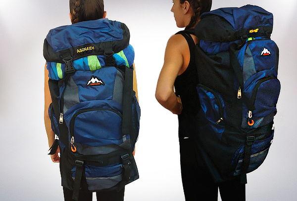 Mochila para Camping de 70 Litros, Color Azul