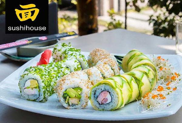Almuerzo o cena para 2 personas. Sushi House elige sucursal