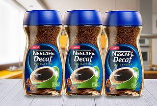 Pack 3 Nescafé,Café Instantáneo Descafeinado Decaf Frasco