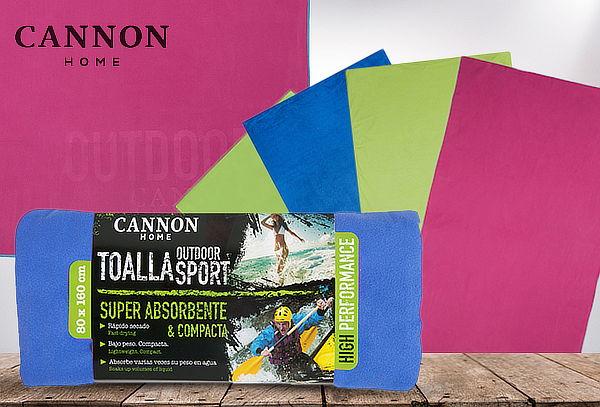 Toalla Outdoor Sport Microfibra, Cannon.