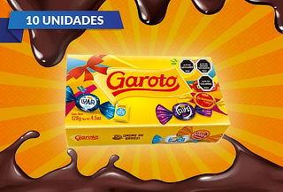 10 Cajas de Chocolates Garoto de 128gr cada una