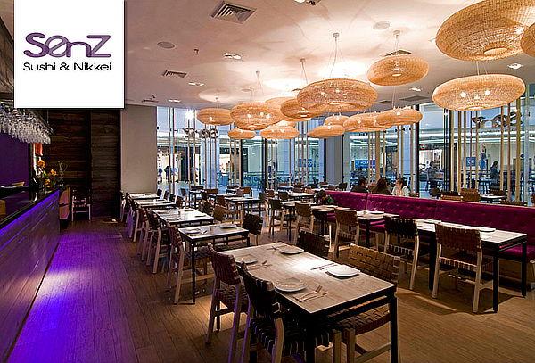 Senz: Almuerzo o Cena en Carta Abierta para 2 personas