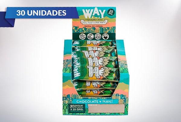 Pack de 30 barras de cereal energética Way Bar