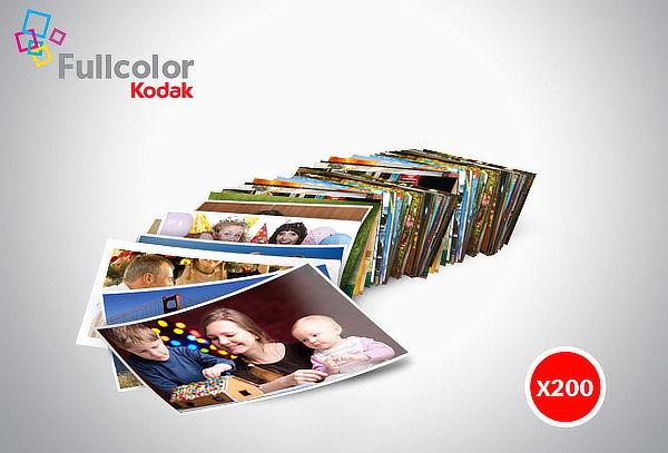 200 Fotos Kodak Express 13 x 18 cm