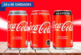 Pack de 24 o 48 Latas de Coca-Cola 350 cc a Elección