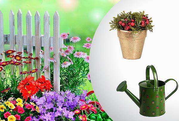 Regadera Metálica para Jardín o Macetero Artificial