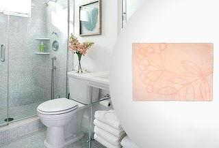 Alfombra de Piso de Baño Relieve con Diseño