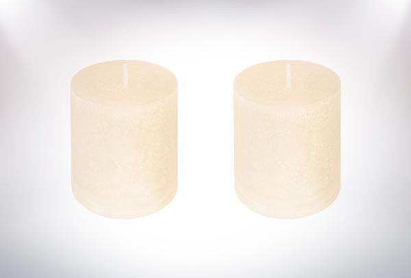 2 Porta Velas o Pack de 2 Velas Rusticas + 1 Porta Vela