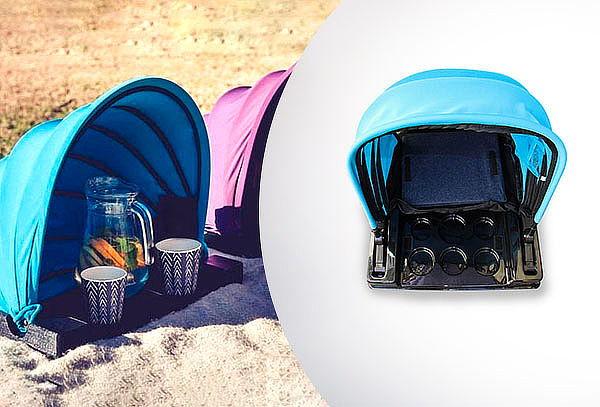SunShader Quitasol Sombrilla de Playa porta Botellas