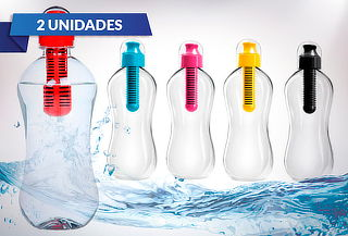 Pack 2 Botellas Filtro de Carbono Activo, Color a Elección