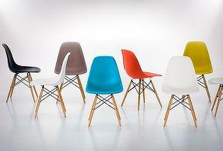 Pack 4 Sillas Eames Wood color a elección