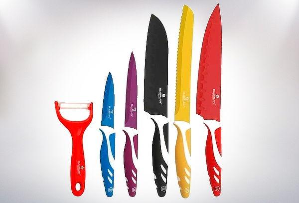 Set Cuchillos Acero 6 Piezas de Colores