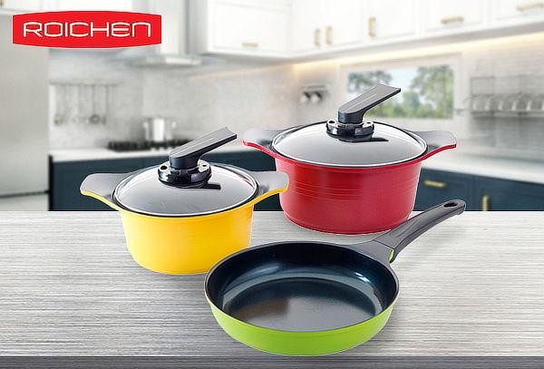 Batería de cocina natural 5 piezas Roichen