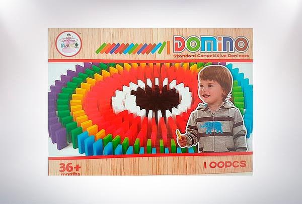 100 Dominó de Colores de Madera