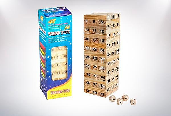 Torre Jenga Wiss Toy 54 Piezas de Madera