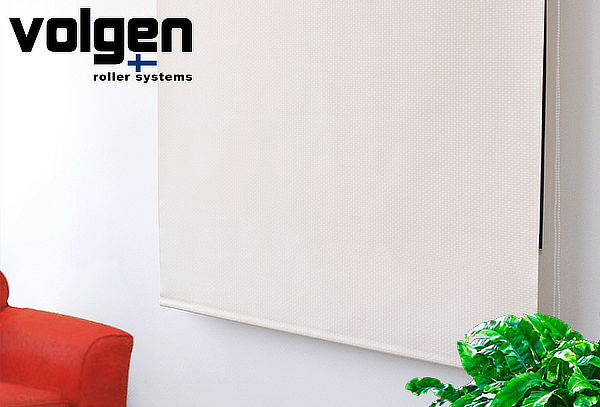 Cortina Roller Marfil Sunscreen Volgen, Tamaño a Elección