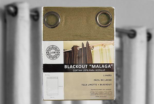 Cortina Black Out Anillas Malaga Meriggi, Color a Elección