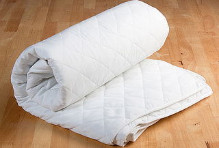 Cubre colchón 132 Hilos Blanco King