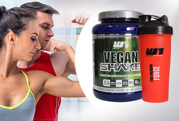 Proteína Vegan Shake 1 Kg Lemon Grass, Opción + Shaker