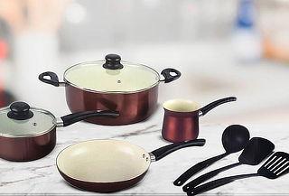 Set de Batería Cerámica de Cocina 9 Piezas