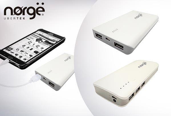 Cargador de batería externa marca Norge, modelo a elección.